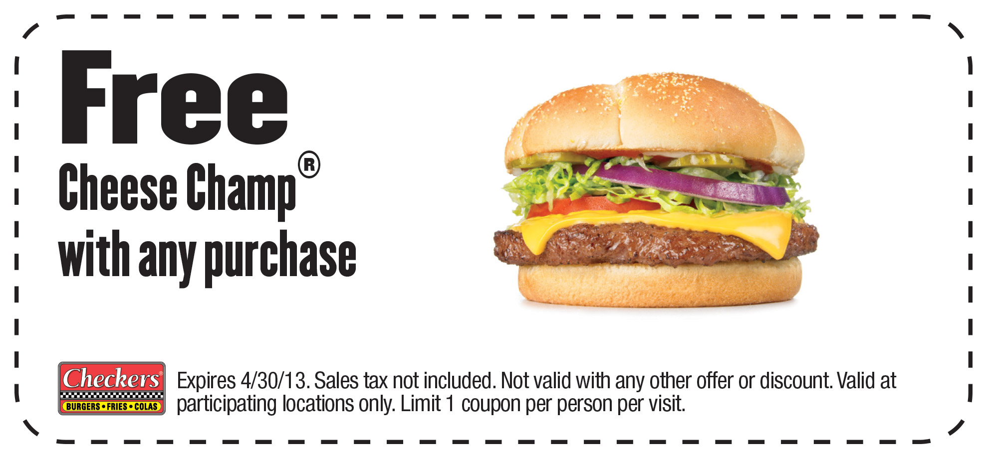 graphic regarding Checkers Coupons Printable identified as Checkers Coupon CBS DC