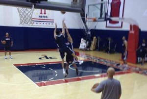 Otto Porter working out at the Wizards practice facility. (Credit: Sky Kerstein/106.7 The Fan)