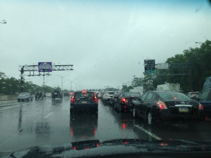 Traffic backs up at the toll on eastbound Md. 50 on Friday, June 7. (Photo credit: Jared Ruderman/All-News 99.1 WNEW)