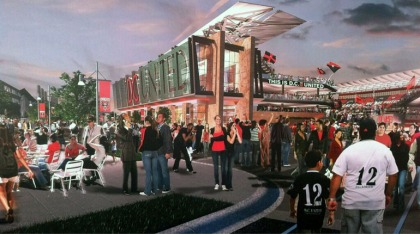 Artist rendering of proposed new D.C. United stadium. (credit: Matt Del Signore/All-News 99.1 WNEW)