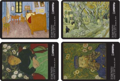 Metro is offering four commemorative SmarTrip fare cards with artworks by Vincent van Gogh. (Photo from WMATA)
