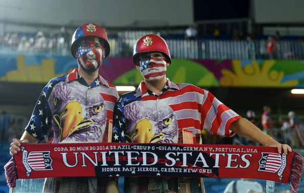 US fans cheer before a Group G football match between Ghana and US (credit: JAVIER SORIANO/AFP/Getty Images)