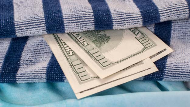 Cash, Beach Towel, Beach Pass, Beach, Summer,