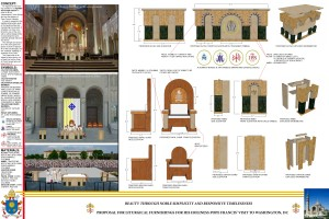 Papal furniture competition winner designs.