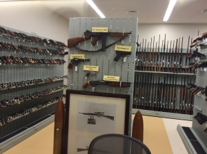 Firearms section of the public health lab. (Credit: Kris Ankarlo/NewsRadio 99.1)