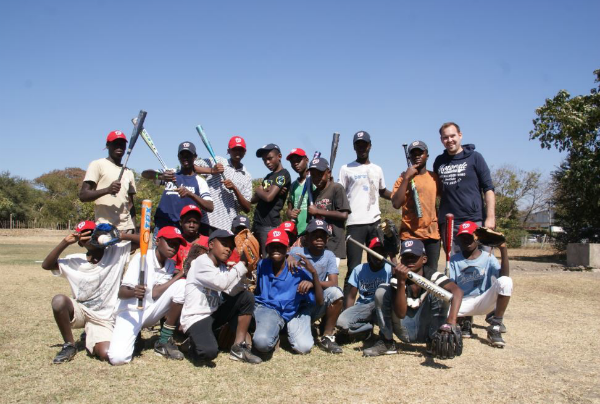 Thank You Washington Nationals and Nationals Reddit for making an impact on these kids. Thank you to some for all the equipment donated and a big shout out to Mike and the Nationals for the hats. We are big fans of the Nats here in Zambia. (Caption by Chris McCurdy)