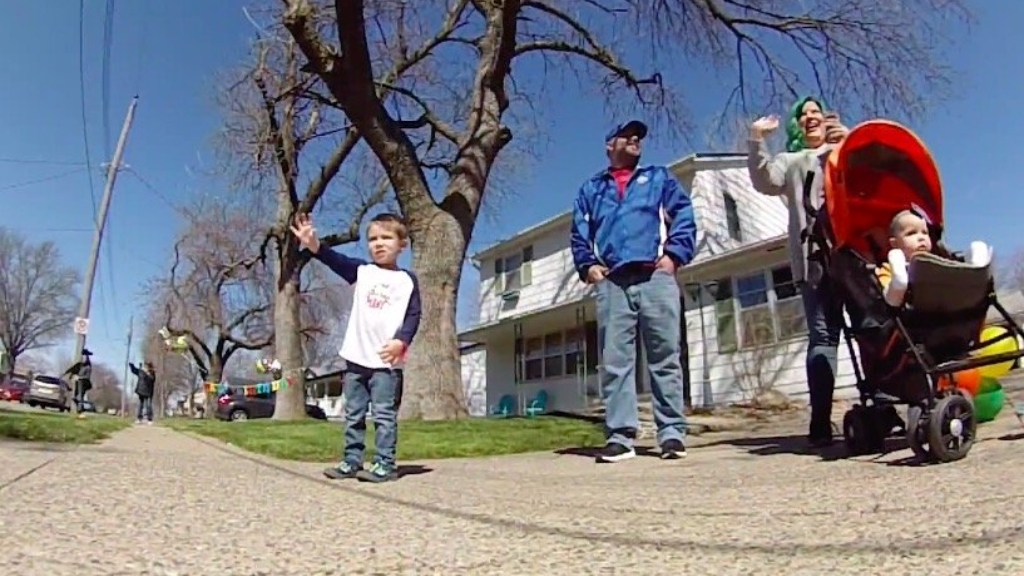 'Absolutely Awesome': Grandparents Make 140 Mile Trip For Drive-By Birthday Surprise